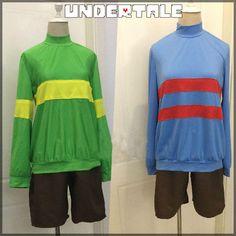 Undertale Protagonist Frisk Chara Cosplay Tshirt Shorts Pants Unisex Costume Hot