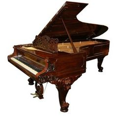 5220 Beautiful Antique Rosewood Wm. Knabe & Co. Concert Grand Piano