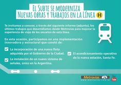CRÓNICA FERROVIARIA: Metrovías S.A.: El Subte se moderniza