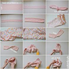 ideas diy baby turban headband ideas for 2019 Baby Turban Headband, Diy Baby Headbands, Baby Bows, Flower Headbands, Toddler Headbands, Fabric Headbands, Handmade Headbands, Turban Tutorial, Baby Headband Tutorial