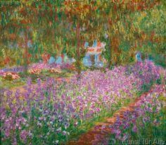 Claude Monet - Irisbeet in Monets Garten