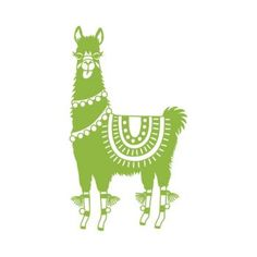 Celebrate the season with this adorable llama stamp, perfect to decorate craft projects, gift wrap and holiday cards.<br><br>Size - approximately 3 x 2