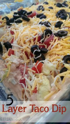 It's the day of the Big Game and you don't know what to make. Try this simple 5 layer taco dip that takes no time at all and will be a hit with the guests.