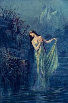 "Art by Speed Lancelot (1912) - ""The Lady Of The Lake."""