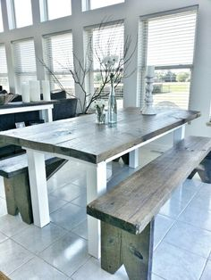 Farmhouse table but without the white