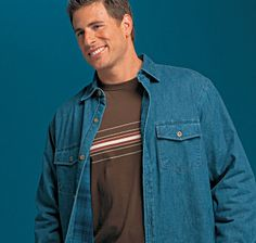 Lee Pappas for Mervyn's Denim Button Up, Button Up Shirts, American Athletes, Crossfit Gym, S Models, Raincoat, Smile, Stars, Jackets