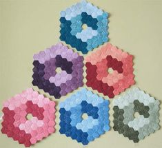 Hexagon Cubes - English paper piecing -  fun way to stitch cubes!