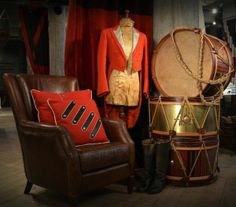 Timothy Oulton drums and mannequin