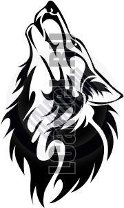 Волк рисунок в цвете