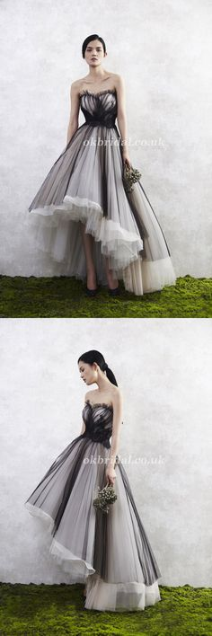 Sweet Heart Prom Dress, High-Low Prom Dress, Tulle Prom Dress, Backless Prom Dress, Vintage Prom Dress, LB0953 #okbridal