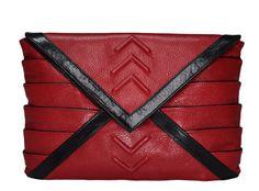 Riart-Fashion Athena Mini Handtasche, Rot/Schwarz von RIARTFASHION auf Etsy