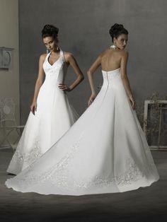 Twin Halter Neck Wedding Dresses