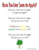 """Song, """"Have You Ever Seen An Apple?"""""""