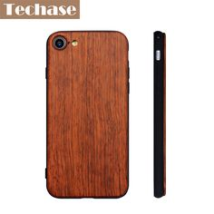 >> Click to Buy << Techase 2017 New Cases For iPhone 7 Case Hard Ultra-thin Back Cover For iPhone 7 Plus Cases TPU+Wood Protective Telefon Kilifi #Affiliate