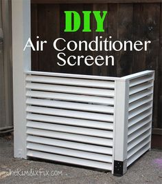 Disguise your AC with a DIY Louvered Screen