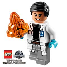 LEGO Jurassic World Dr. Henry Wu Minifigure: New genuine authentic LEGO miniifgure! Lego Jurassic Park, Lego Jurassic World Videos, Film Jurassic World, Legos, Best Lego Sets, Micro Lego, Lego Pictures, Lego Man, All Lego