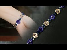 Informations About Blue beaded bracelet diy. How to make beaded bracelet. Beading tutorial Pin You c Beaded Brooch, Beaded Jewelry, Beaded Bracelets, Embroidery Bracelets, Leather Jewelry, Jewelry Findings, Jewellery, Making Bracelets With Beads, Jewelry Making