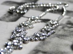 Amazing Vintage Rhinestone Necklace So Chic Perfect by wulfgirl, $90.00