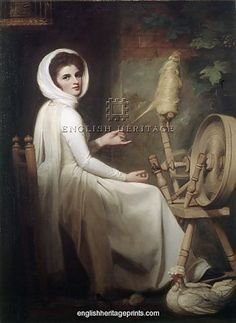 Lady H at a spinning wheel.G Romney,Iveagh Bequest.Kenwood Kenwood House, Milwaukee Art Museum, Oil On Canvas, Canvas Prints, Canvas Art, Photo Portrait, English Heritage, English Manor, Royal Academy Of Arts