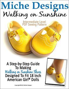 "Walking on Sunshine  18"" Doll Shoes"