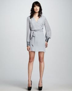 Raven Sequin-Cuff Dress by What Goes Around Comes Around at Neiman Marcus.