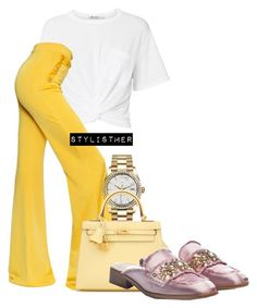 """""""fresh of the runway"""" by meryemallachi on Polyvore featuring T By Alexander Wang, Balmain, Rolex, Hermès and RAS"""