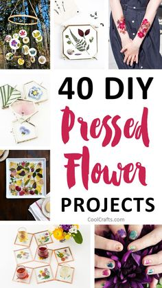 We compiled a list of 40 DIY pressed flower ideas for you to make. If you love beautiful flowers, then this pressed flowers roundup will inspire you.
