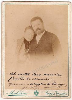 Tamagno, Francesco - Large Signed Family Photo 1892