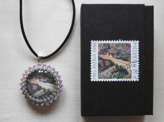 Anhänger aus alter Briefmarke