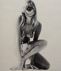 Dennis Busch: Girl, 2013 #monochrome #collage #woman #eye #nude www.kidsofdada.com/products/girl-2013