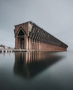 This is an old ore dock in Marquette that used to load ships with iron ore from the mines Marquette Michigan, Northern Michigan, Lake Michigan, Michigan Usa, Wisconsin, Michigan Vacations, Michigan Travel, Beauty Dish, Great Lakes Ships