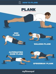 how to plank infographic