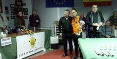 Raúl Conca Tricampió a la banda del club Billar Sueca