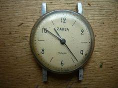 23.05.16/  Zarya Vintage Soviet wrist watch for parts. Not work. Vostok Amphibia Komandirskie Shturmanskie Chaika Seconda Zarya Slava