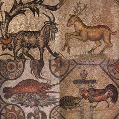 dettagli mosaici pavimento basilica di Aquileia in Friuli Venezia Giulia- Italia