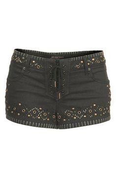 Kate Moss for Topshop Studded Denim Shorts | Nordstrom