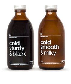 Eighthirty Cold Press Coffees aka cool cold coffee bottles