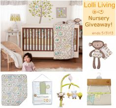 Win this fabulous nursery bedding & décor from @Lolli Living when you enter our #giveaway! Ends 05/31/13.