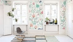 This Watercolor Blossoms wallpaper is Specially Designed and Custom Made to fit almost Any Size of Your Walls! As a great revolution of traditional