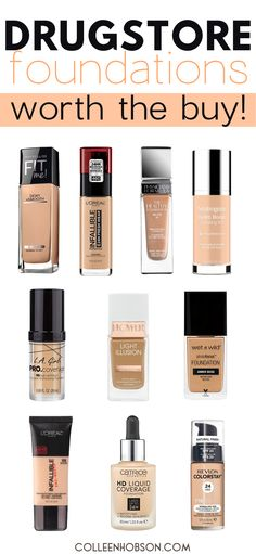 On the hunt for a good drugstore foundation? Find out which amazing top 10 are worth the buy. #best #drugstore #foundation #full #coverage #affordable