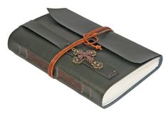 Large Faux Leather Journal with Cross Bookmark - Choice of 4 colors -  Ask a Question $41.00 USD. CA
