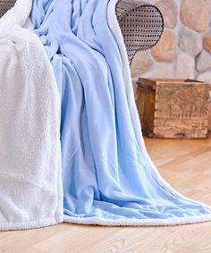 Look at this #zulilyfind! Light Blue Sherpa Blanket #zulilyfinds