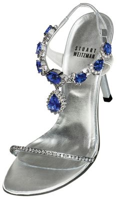 Stuart Weitzman teamed with jeweler Le Vian to painstaking match and cut 185 carats of museum-quality tanzanite and 28 carats of diamonds.