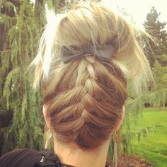 I'm going to have to start practicing my bottom braid, ending with a bun hairdo.