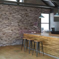 Divana Black: Muro Cerámico, tipo Ladrillo, formato 34x50 cm Interlock Indentado. Disponible en acabado mate. Por su look y diseño se recomienda para instalación en Muro.  Interior y exterior, residencial o comercial.