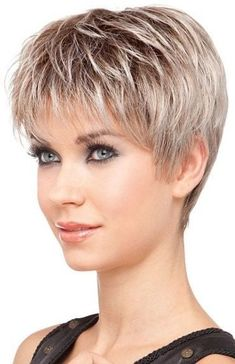 Today we have the most stylish 86 Cute Short Pixie Haircuts. We claim that you have never seen such elegant and eye-catching short hairstyles before. Pixie haircut, of course, offers a lot of options for the hair of the ladies'… Continue Reading → Short Hairstyles Fine, Haircuts For Fine Hair, Short Pixie Haircuts, Pixie Hairstyles, Haircut Short, Hairstyle Short, Hairstyle Ideas, Woman Hairstyles, Short Bangs