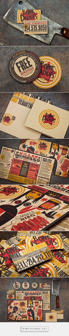 Food infographic  FPO: Bone Daddy's BBQ Restaurant Branding and Menu Design by Matchbox Studio