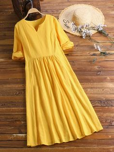 Half Sleeve Dresses, Half Sleeves, Indian Dress Up, Curvy Outfits, Fashion Outfits, Casual Dresses For Women, Clothes For Women, Women's Clothes, Minimal Dress