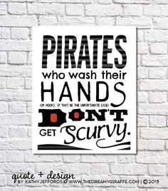 Wash Your Hands Print Pirate Art Pirate Theme Boys Art Childrenu0027s Pirate  Bathroom Wall Decor Kids Bathroom Sign Funny Bathroom Quote Poster