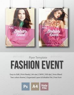Fashion Event Flyer Template PSD, Vector AI. Download here: http://graphicriver.net/item/fashion-event-flyer-template/15334774?ref=ksioks